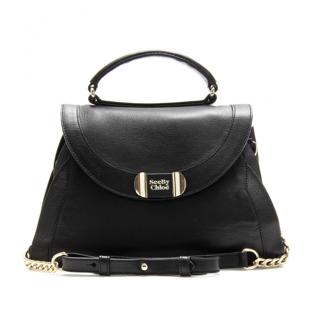 chloe bag price - See by chlo�� Mina Leather Shoulder Bag in Black | Lyst