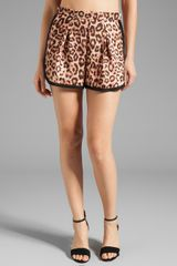 Sonia By Sonia Rykiel Wild Dots Printed Short in Brown - Lyst