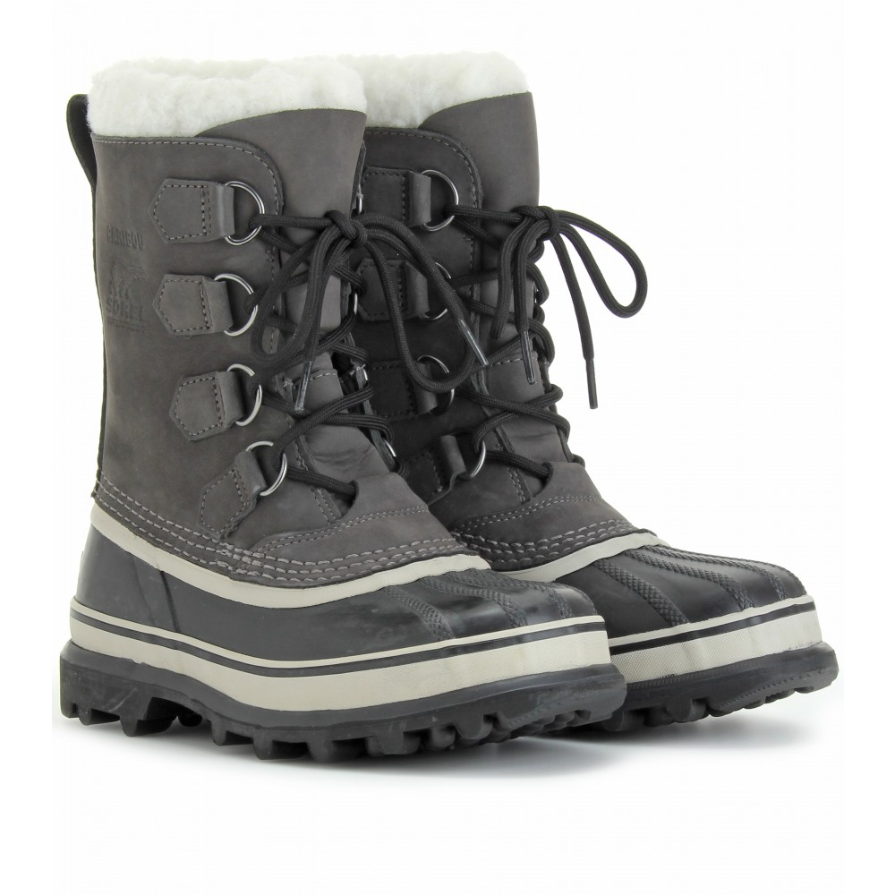 sorel caribou boots in gray shale lyst
