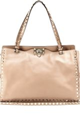 Valentino Rockstud Leather Tote - Lyst