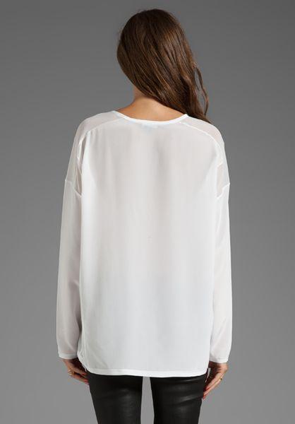 White Sheer Silk Blouse 81