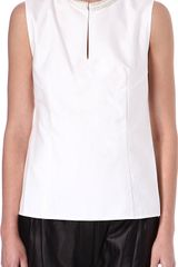 3.1 Phillip Lim Embellished Silk Top - Lyst