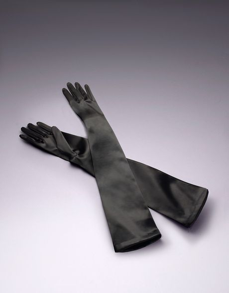 Agent Provocateur Long Satin Gloves in Black | Lyst