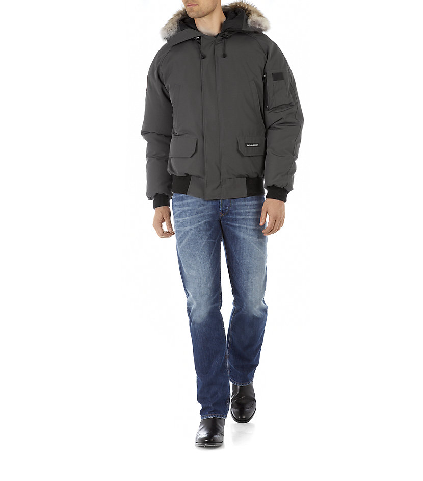 canada goose chilliwack bomber jacket in gray for men. Black Bedroom Furniture Sets. Home Design Ideas