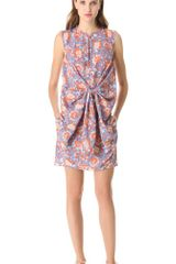 Carven Floral Tie Front Dress - Lyst