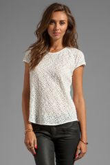Diane Von Furstenberg Liva Mini Leaf Lace Top in White - Lyst