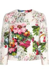 Dolce & Gabbana Lace and Floral brocade Jacket - Lyst