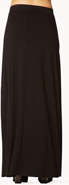 Forever 21 Backslit Maxi Skirt in Black