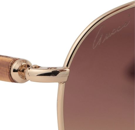 Gucci Gold Sunglasses Men Sunglasses in Gold For Men