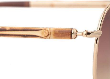 Gucci Gold Sunglasses Men Men Gold Bamboo Gucci