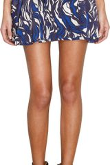 Isabel Marant Printed Mini Skirt - Lyst