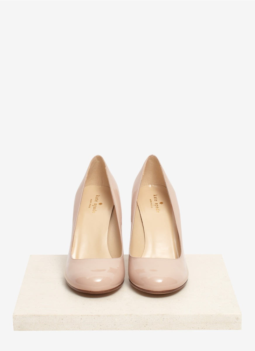 e63dcd52a Kate Spade Karolina Snakeskin-heel Patent-leather Pumps in Natural ...