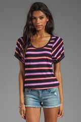Marc By Marc Jacobs Light Stripe Jersey Short Sleeve Top  - Lyst
