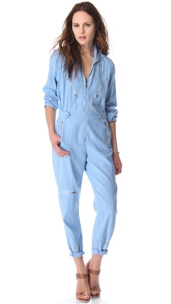 M I H Jeans Boiler Jumpsuit In Blue Lyst
