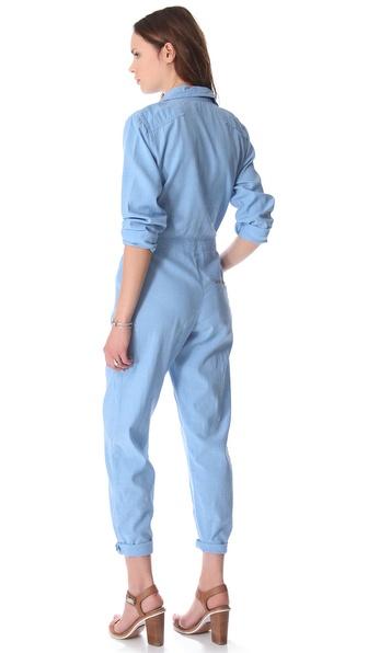 Lyst M I H Jeans Boiler Jumpsuit In Blue