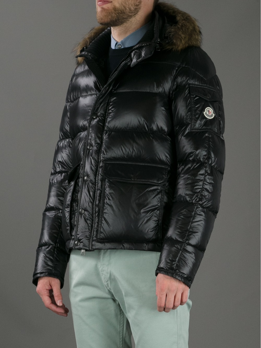 moncler jacket leather