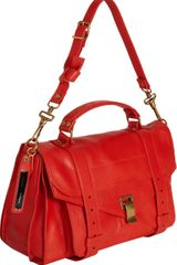 Proenza Schouler Ps1 Medium Leather in Red - Lyst