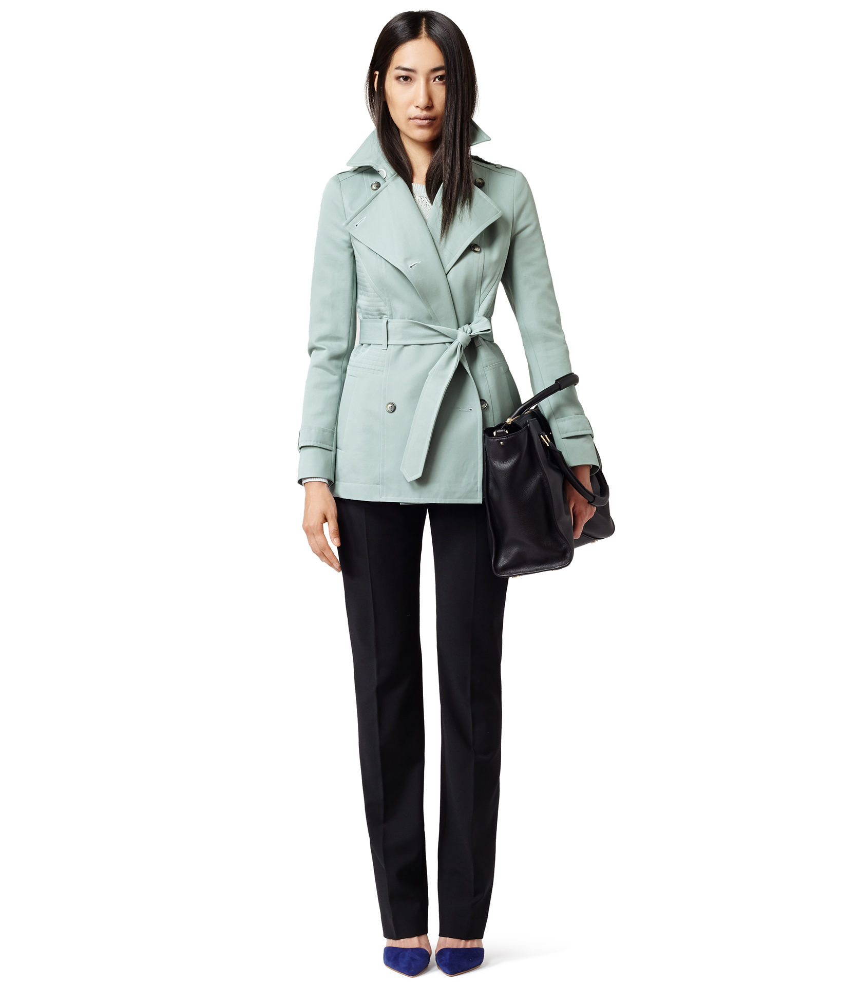 Reiss Caines Short Mac Jacket in Blue   Lyst