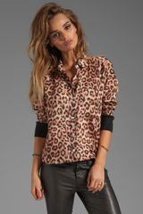 Sonia By Sonia Rykiel Wild Dots Printed Blouse in Brown - Lyst