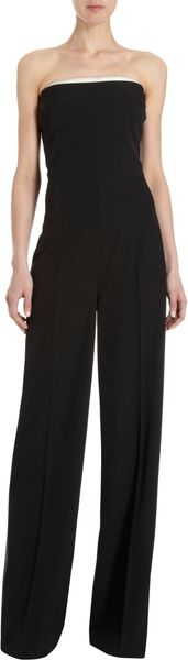 Stella McCartney Satin Trimmed Jumpsuit - Lyst