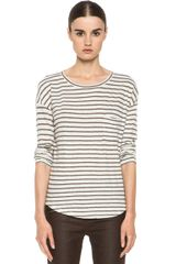 Vince Tee in Whitebrownstripes - Lyst
