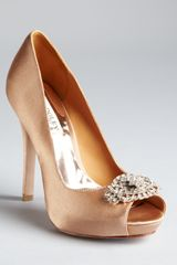 Badgley Mischka Pumps Goodie Peep Toe - Lyst