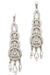 Ben Amun Crystal Circular Drop Earrings - Lyst