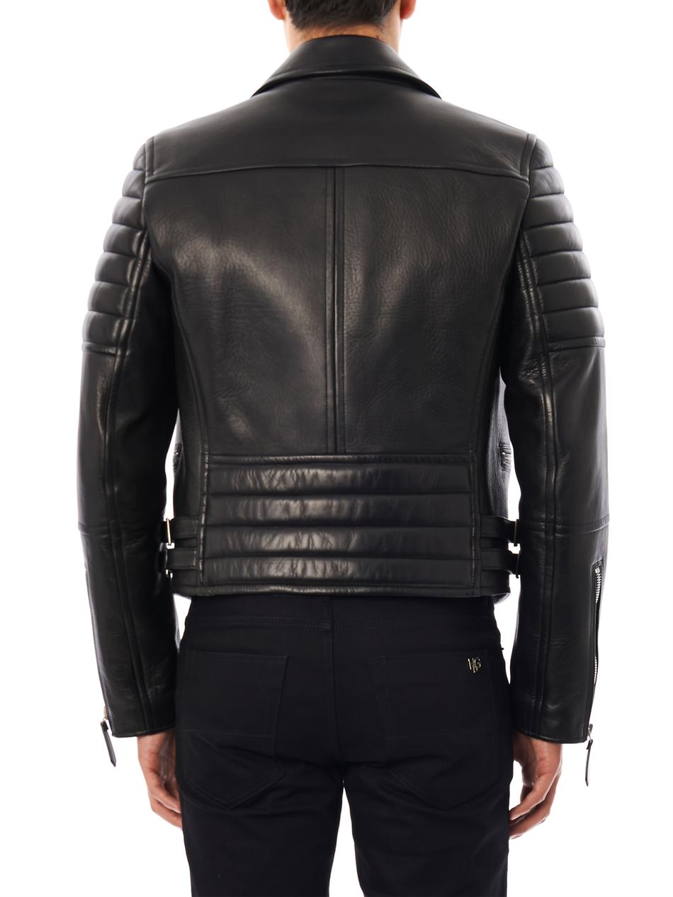 Lyst Burberry Prorsum Leather Biker Jacket In Black For Men