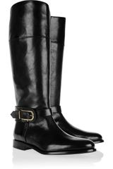 Burberry Shoes & Accessories Winton Leather Riding Boots - Lyst