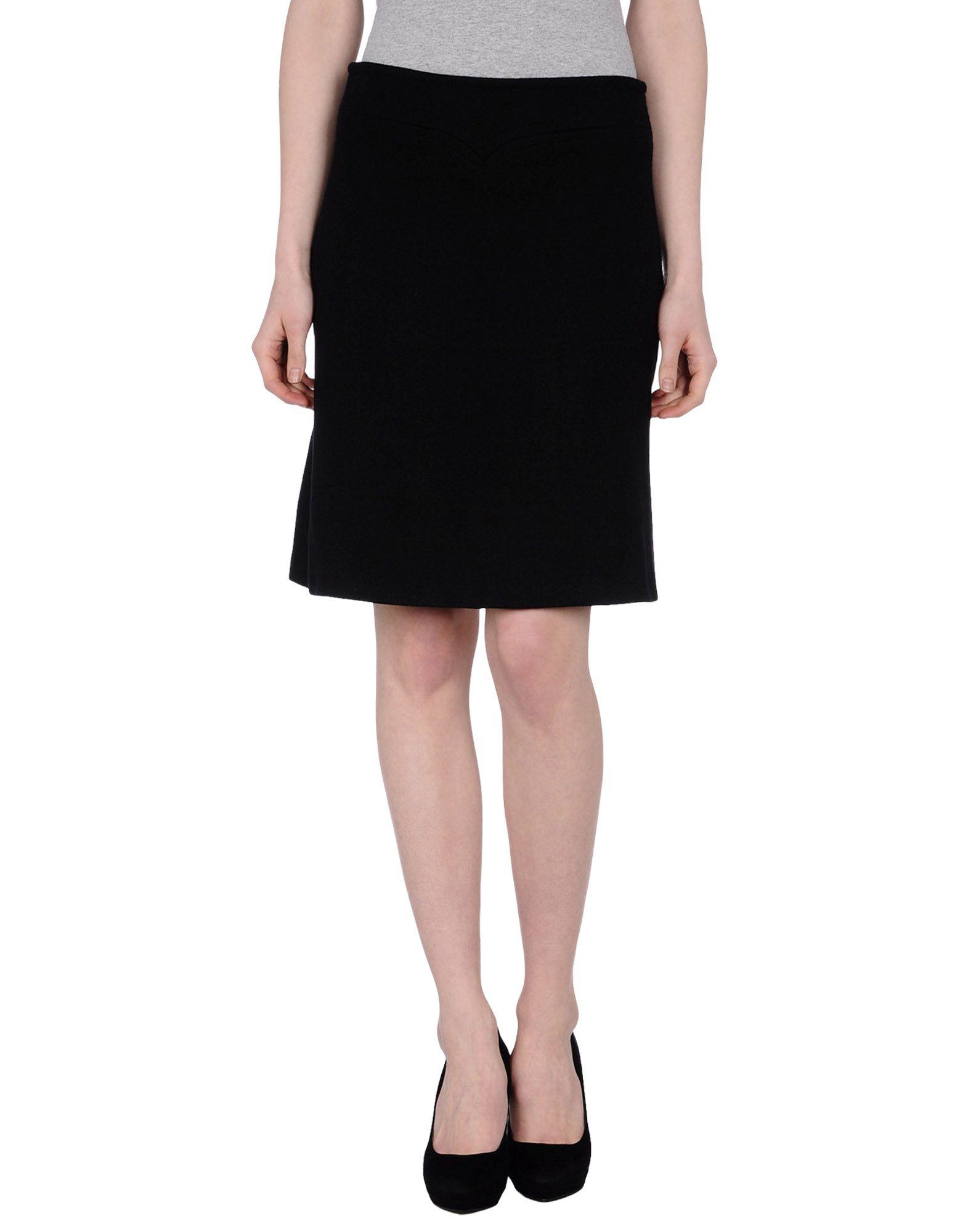 issa knee length skirt in black lyst