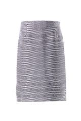 Marc Jacobs Satin Fishnet-print Pencil Skirt - Lyst