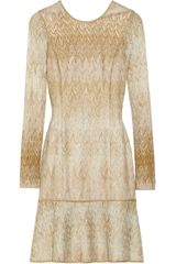 Missoni Degradé Metallic Crochetknit Dress - Lyst