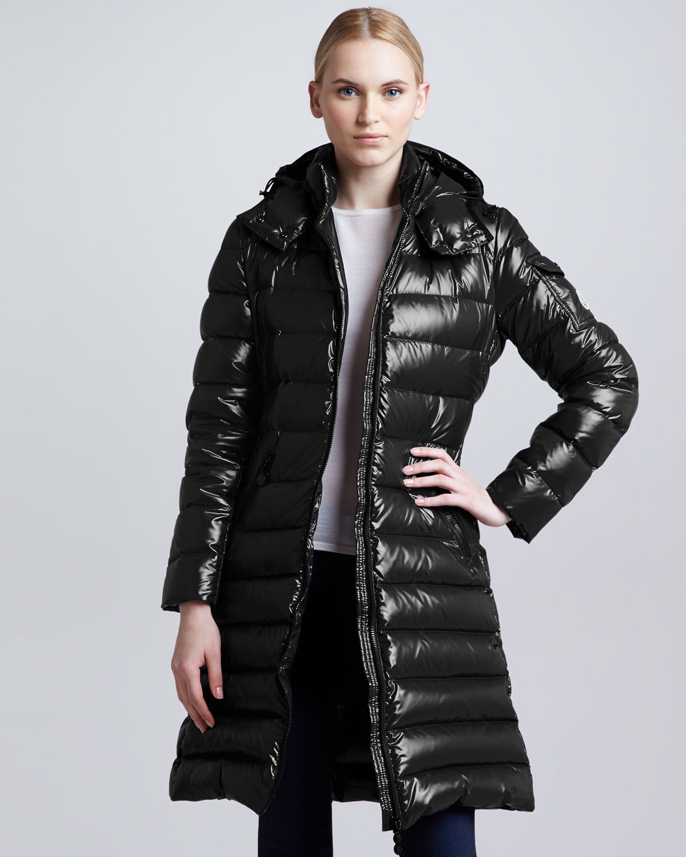 moncler black long coat