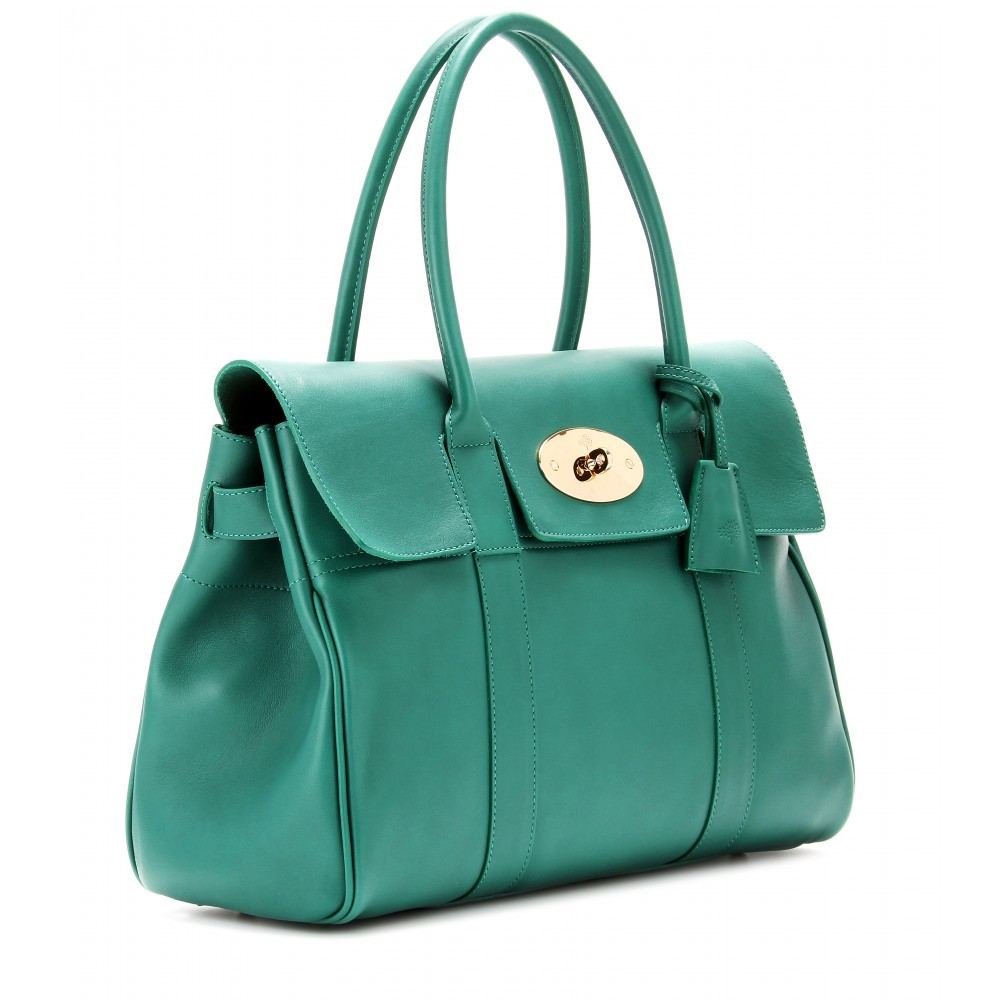 4cb7b7be0b Lyst - Mulberry Bayswater Leather Tote in Green