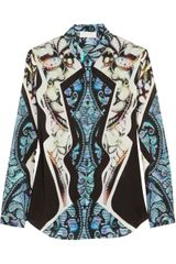 Peter Pilotto J Printed Silk Shirt - Lyst