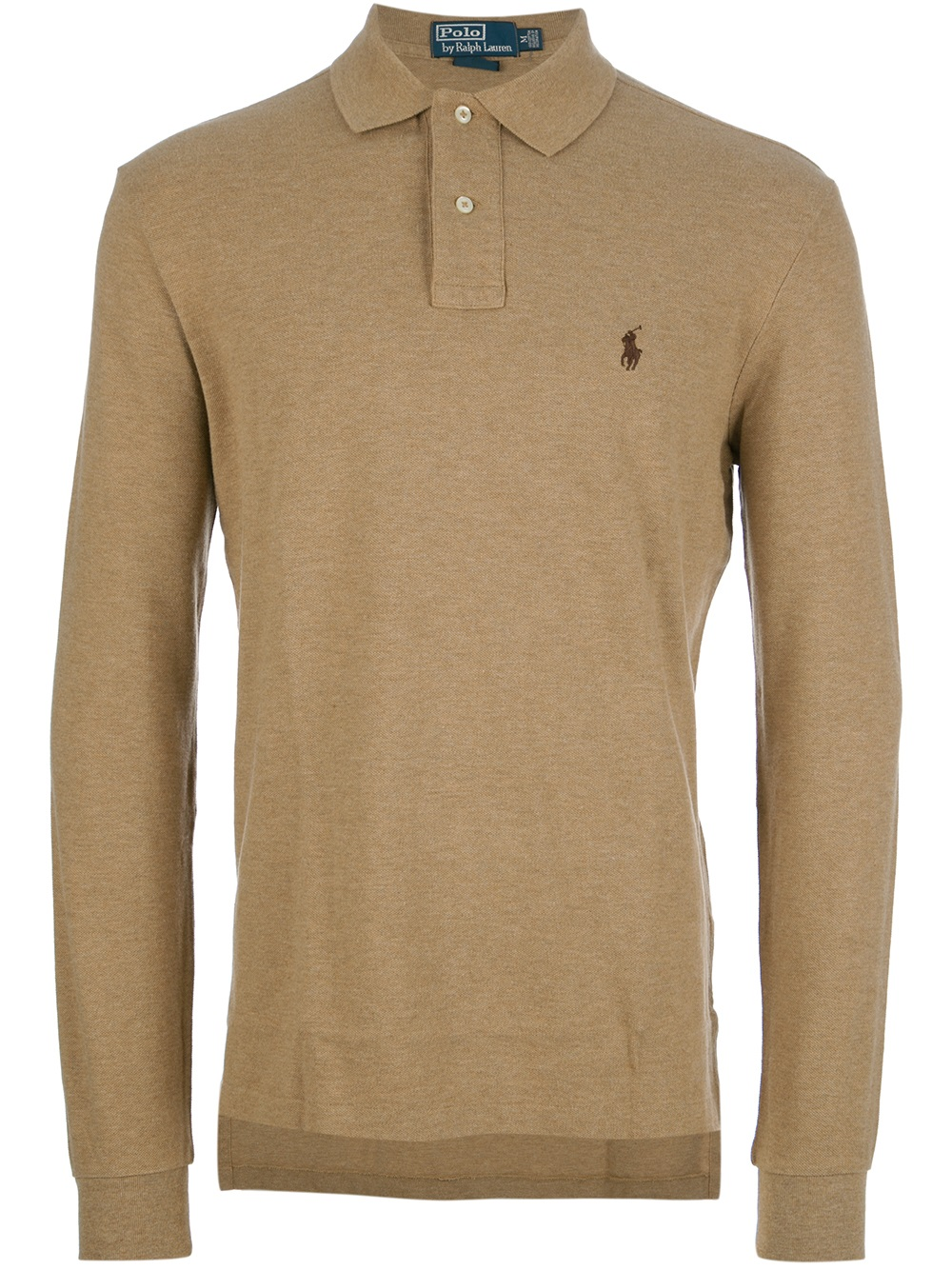 Lyst Polo Ralph Lauren Long Sleeve Polo Shirt In Brown