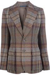 Ralph Lauren Plaid Tweed Jacket - Lyst