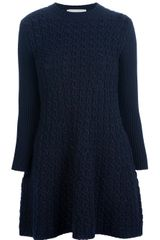 Stella McCartney Cable Knit Sweater Dress - Lyst