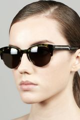 Stella McCartney Tortoise Half Cat Eye Sunglasses  - Lyst