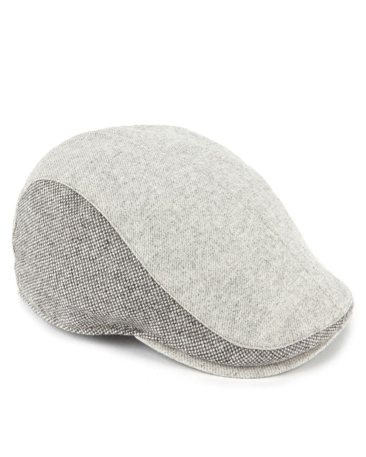 Lyst - Ted Baker Crebag Contrast Flat Cap in Gray for Men 96c8a84a85a65