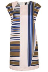 Topshop Satin Stripe Dress By Boutique - Lyst