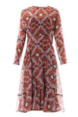 Veronica Beard Bonfire Bandana Print Prairie Dress - Lyst