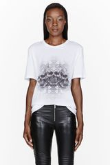 Alexander McQueen Stained Glass and Skull Graphic Tshirt - Lyst