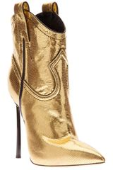 Casadei Metallic Westernstyle Stiletto Boot - Lyst