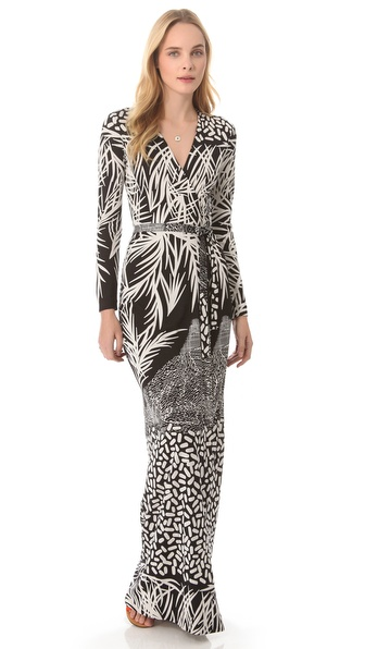 Dvf Maxi Wrap Dress View Fullscreen