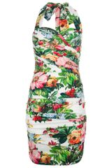 Dolce & Gabbana Halterneck Fitted Dress - Lyst