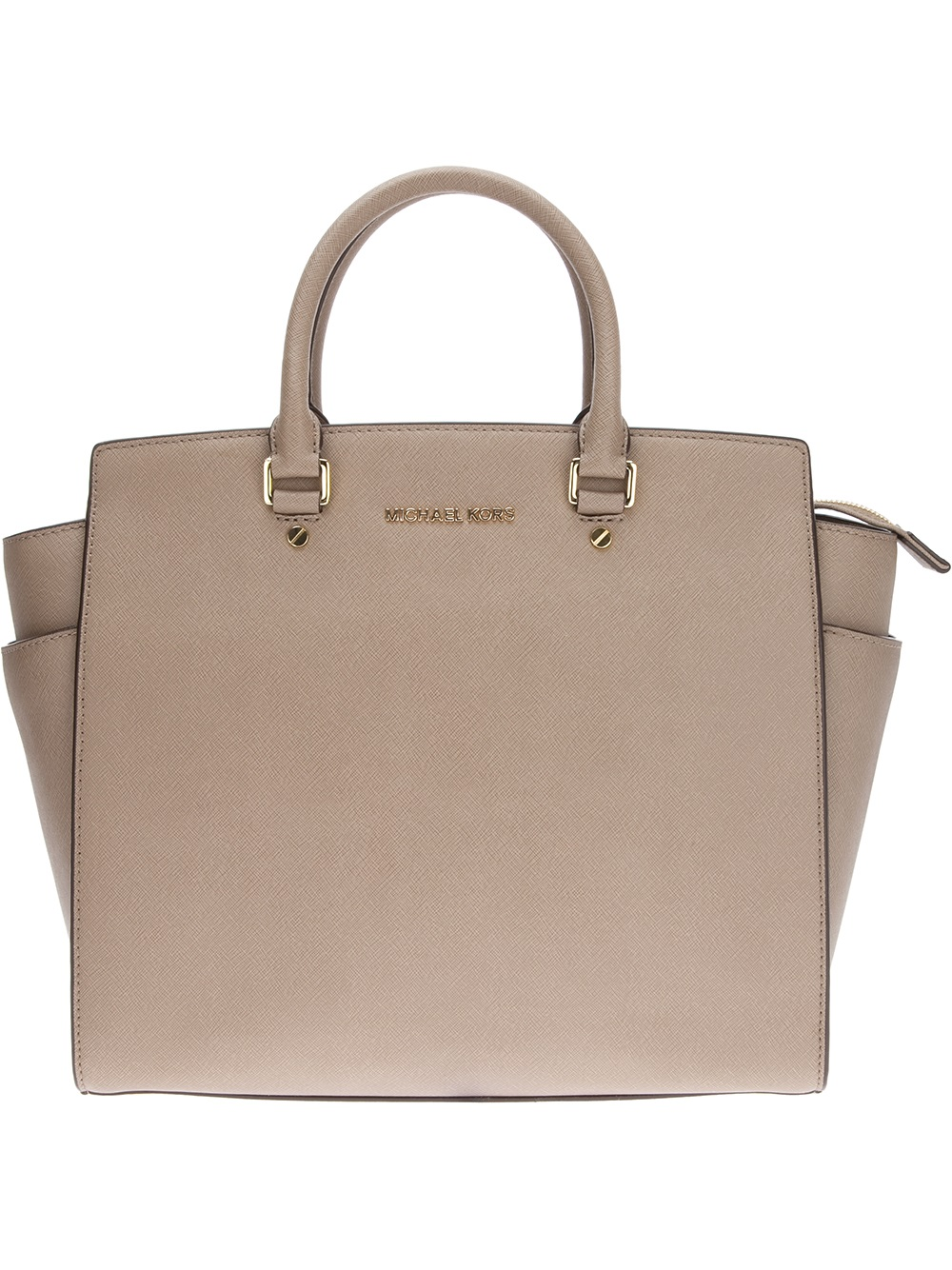 michael michael kors selma tote in gray lyst. Black Bedroom Furniture Sets. Home Design Ideas