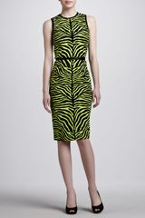 Michael Kors Zebraprint Sheath Dress - Lyst