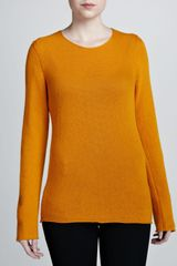 Michael Kors Bias Knit Cashmere Sweater Amber - Lyst
