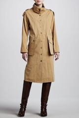 Michael Kors Macintosh Washed Cotton Broadcloth Coat - Lyst